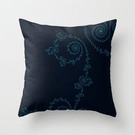 Subtle Delicacy - Fractal Art Throw Pillow