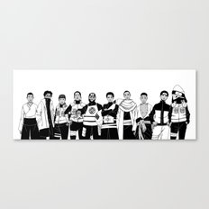 Naruto Hip-Hop Crossover Set 1 Canvas Print