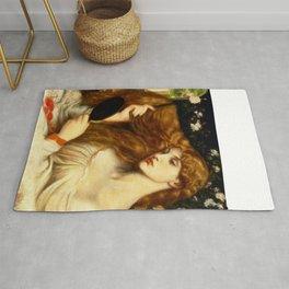 """Dante Gabriel Rossetti """"Lady Lilith"""" Rug"""