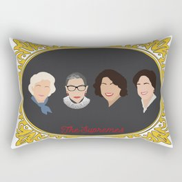 Supreme Court Justice Ruth Bader Ginsburg's in frame Rectangular Pillow