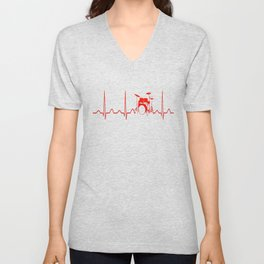 DRUMS HEARTBEAT Unisex V-Neck