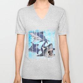 Shark With Texture Unisex V-Neck