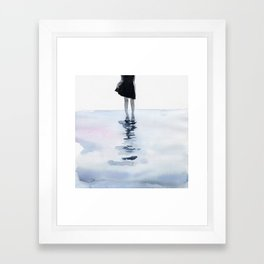 all around the sea Framed Art Print