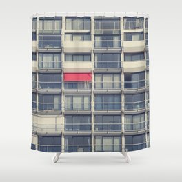 Red Awning Shower Curtain