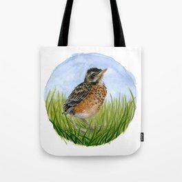Robin Fledgling Tote Bag
