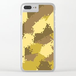 Camouflage desert 2 Clear iPhone Case