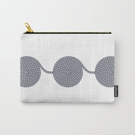 Yacht style. Rope spirals. Blue & white. Carry-All Pouch