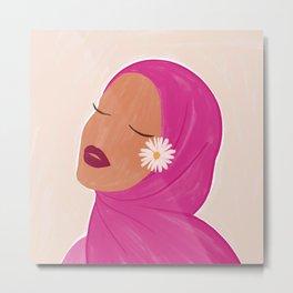Hijabi Queen Metal Print