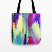 glitch Tote Bags featuring Glitch by James McKenzie