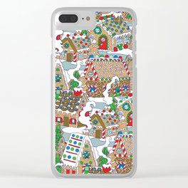 Gingerbread Village Clear iPhone Case