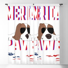 Cute Little Puppy Lying On The Floor American Style With Sunglasses Blackout Curtain