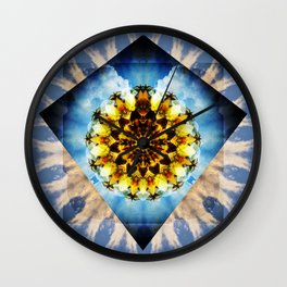 Winged Mandala. Wall Clock