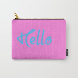 Hello Saying In Pink And Blue Carry-All Pouch