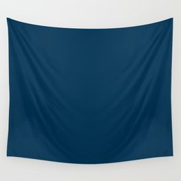 Prussian Blue Solid Color Wall Tapestry