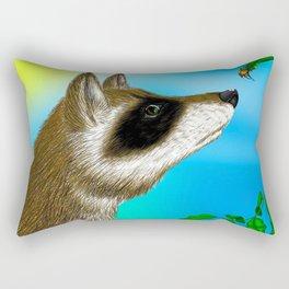 Raccoon and The Beetle Rectangular Pillow