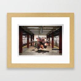 Fractal FORM | Subway | NYC Framed Art Print