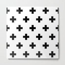 Swiss Cross V2 Metal Print