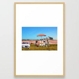 Lac Rose Framed Art Print