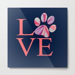 Love is Four Letter Word - Tie Dye Metal Print