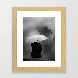 Daydreaming at Machu Picchu Framed Art Print