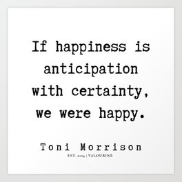 62    Toni Morrison Quotes   190807 Art Print
