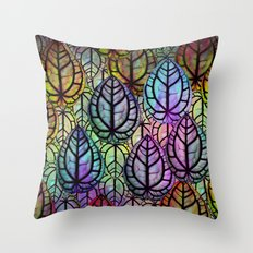 Multicolored Leaves Throw Pillow
