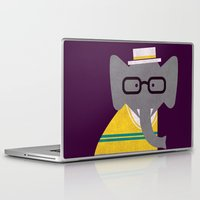 preppy Laptop & iPad Skins featuring Rodney the preppy elephant by Picomodi