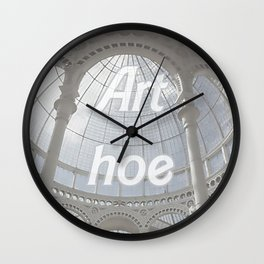 Art hoe v2 Wall Clock