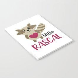 Little Rascal Raccoon Kids Cute Forest Animal Notebook
