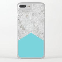 Concrete Arrow Light Blue #206 Clear iPhone Case