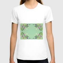 Abstract flowers with background T-shirt