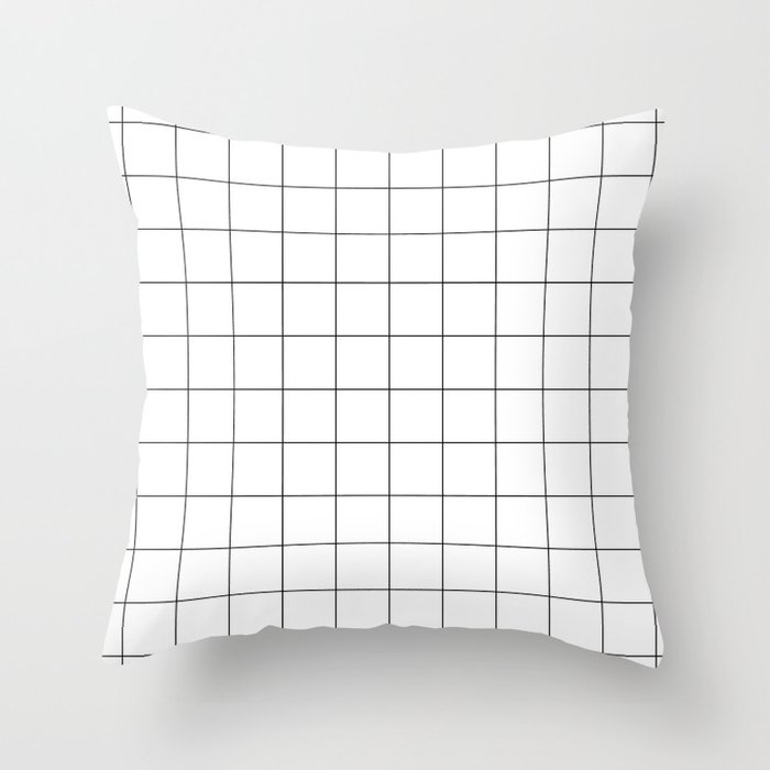 White Grid  /// www.pencilmeinstationery.com Throw Pillow