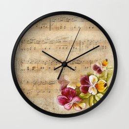 Vintage music #7 Wall Clock