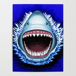 Shark Jaws Attack Poster