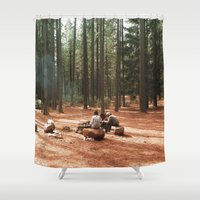 camp Shower Curtains featuring Camp by Casey Afton Hess