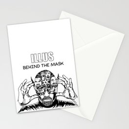 ILLUS: Behind the Mask Stationery Cards
