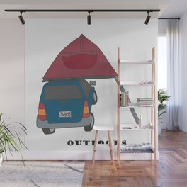 Camping Outdoors Digital Art Wall Mural