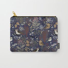 Winter Bird Pattern Carry-All Pouch