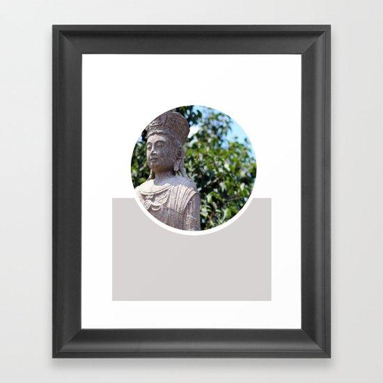 Frank Lloyd Wright's Statue Framed Art Print