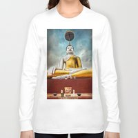 thailand Long Sleeve T-shirts featuring Buddha Thailand by Adrian Evans