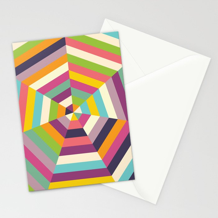 Heptagon Quilt 1 Stationery Cards