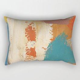 Rustic Orange Teal Abstract Rectangular Pillow