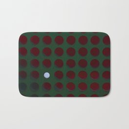 One dot doesn't conform to the norm! Be different! Stand out! Rebel! Bath Mat