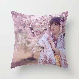 """春 """"Haru"""" Throw Pillow"""