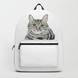 The portrait of the cat Backpack