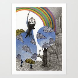 Rainbow Mine Art Print