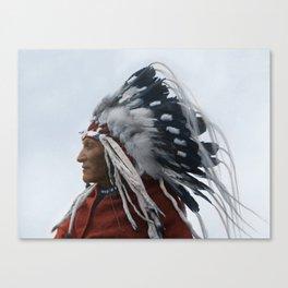 Lazy Boy - Blackfoot Indian Chief Canvas Print
