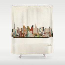 las vegas skyline Shower Curtain