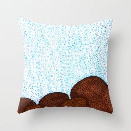 Siderastrea glynni Coral Throw Pillow