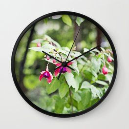 Fuchsia Dell Golden Gate Park Wall Clock
